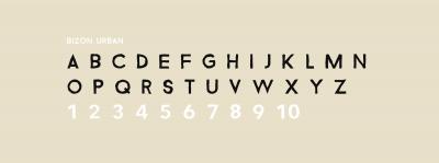 Customised typeface, 'Bizon urban'
